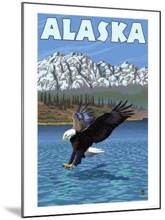 Bald Eagle, Alaska-Lantern Press-Mounted Art Print