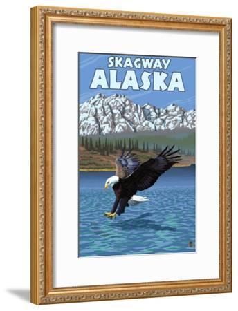 Bald Eagle Diving, Skagway, Alaska-Lantern Press-Framed Art Print