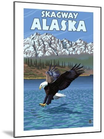Bald Eagle Diving, Skagway, Alaska-Lantern Press-Mounted Art Print
