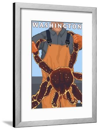 King Crab Fisherman, Washington-Lantern Press-Framed Art Print