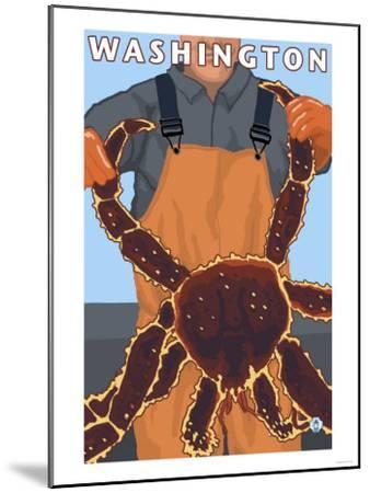 King Crab Fisherman, Washington-Lantern Press-Mounted Art Print