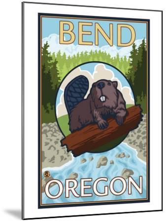 Beaver & River, Bend, Oregon-Lantern Press-Mounted Art Print