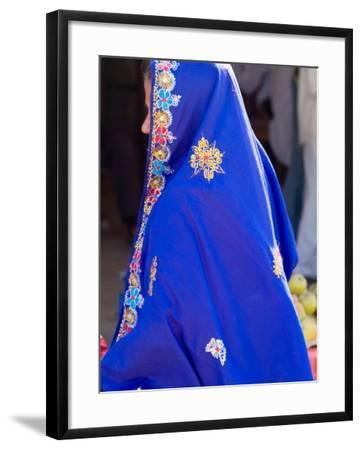 Sari Woman, New Delhi, India-Bill Bachmann-Framed Photographic Print
