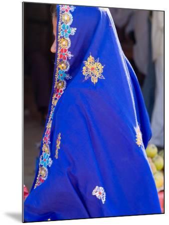 Sari Woman, New Delhi, India-Bill Bachmann-Mounted Photographic Print