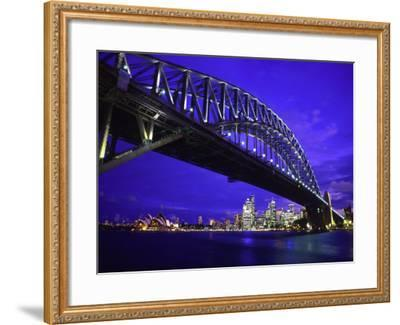 Skyline and the Harbor Bridge, Sydney, Australia-Bill Bachmann-Framed Photographic Print