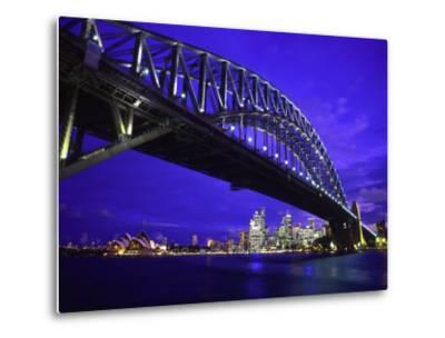 Skyline and the Harbor Bridge, Sydney, Australia-Bill Bachmann-Metal Print