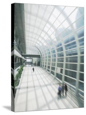 Business Travelers in Modern Airport-Bill Bachmann-Stretched Canvas Print