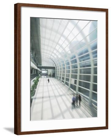 Business Travelers in Modern Airport-Bill Bachmann-Framed Photographic Print