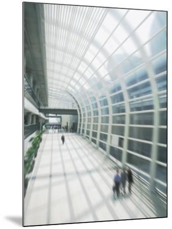Business Travelers in Modern Airport-Bill Bachmann-Mounted Photographic Print