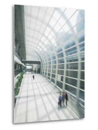 Business Travelers in Modern Airport-Bill Bachmann-Metal Print