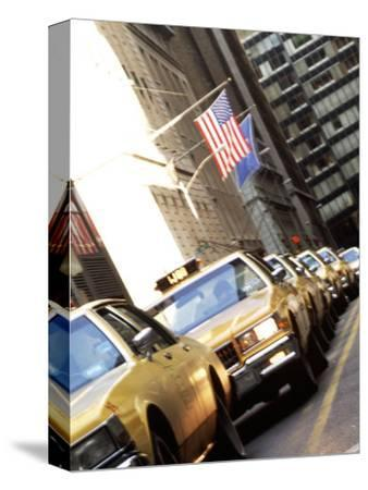 Line of Taxi Cabs in New York City, New York, USA-Bill Bachmann-Stretched Canvas Print