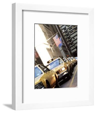 Line of Taxi Cabs in New York City, New York, USA-Bill Bachmann-Framed Photographic Print