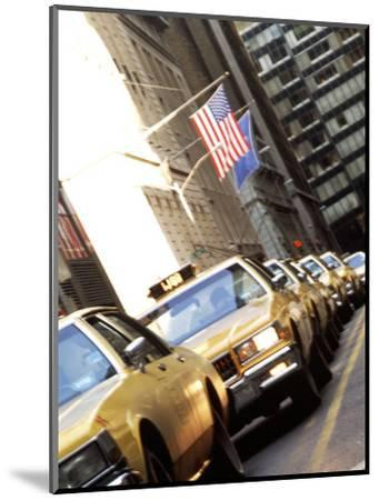 Line of Taxi Cabs in New York City, New York, USA-Bill Bachmann-Mounted Photographic Print