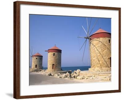 Old Windmills of Rhodes, Greece-Bill Bachmann-Framed Photographic Print
