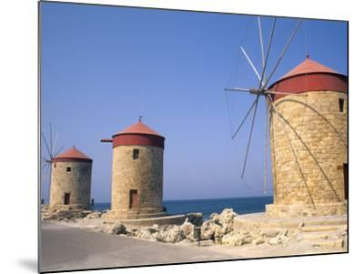 Old Windmills of Rhodes, Greece-Bill Bachmann-Mounted Photographic Print