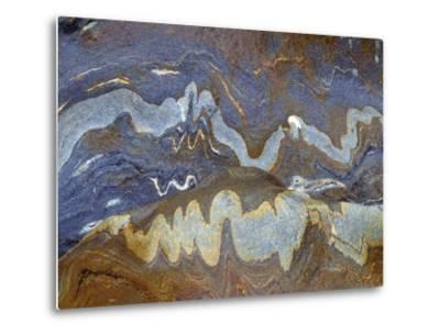 River Rock Intrusions, Val Verzasca, Ticino, Switzerland-Art Wolfe-Metal Print