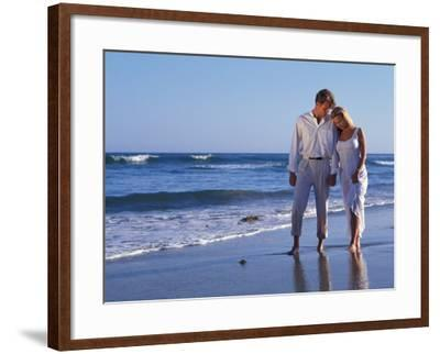 Couple on Vacation at Tropical Beach-Bill Bachmann-Framed Photographic Print