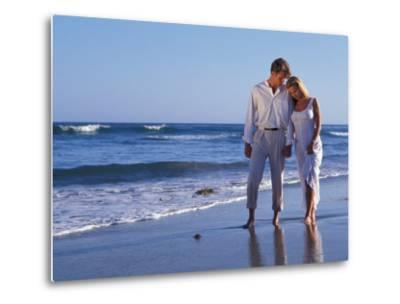 Couple on Vacation at Tropical Beach-Bill Bachmann-Metal Print