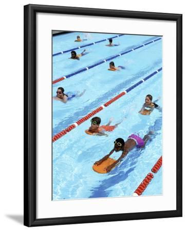 Children Learning to Swim-Bill Bachmann-Framed Photographic Print