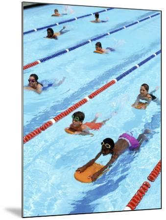 Children Learning to Swim-Bill Bachmann-Mounted Photographic Print