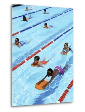 Children Learning to Swim-Bill Bachmann-Metal Print
