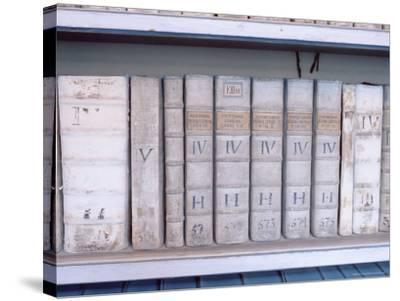 Historical Books at Strahov Monastery, Hradcany, Prague, Czech Republic, Europe-Richard Nebesky-Stretched Canvas Print