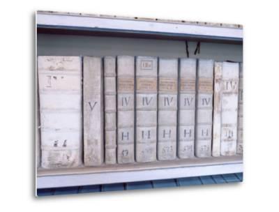 Historical Books at Strahov Monastery, Hradcany, Prague, Czech Republic, Europe-Richard Nebesky-Metal Print