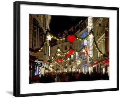 Stroget Ostergade Shopping Area at Christmas, Copenhagen, Denmark, Scandinavia, Europe-Sergio Pitamitz-Framed Photographic Print