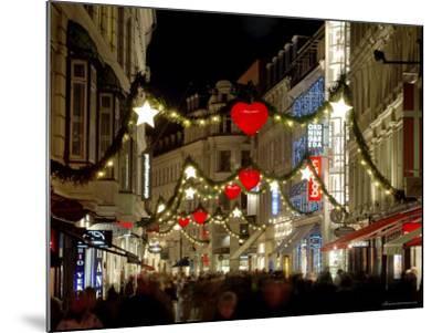 Stroget Ostergade Shopping Area at Christmas, Copenhagen, Denmark, Scandinavia, Europe-Sergio Pitamitz-Mounted Photographic Print