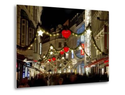 Stroget Ostergade Shopping Area at Christmas, Copenhagen, Denmark, Scandinavia, Europe-Sergio Pitamitz-Metal Print