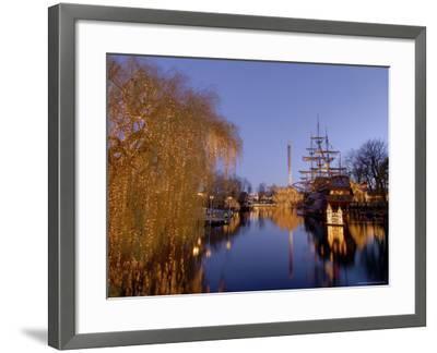 Tivoli Gardens at Christmas, Copenhagen, Denmark, Scandinavia, Europe-Sergio Pitamitz-Framed Photographic Print