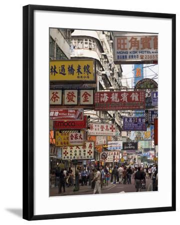 Fa Yuen Street, Mong Kok District, Kowloon, Hong Kong, China, Asia-Sergio Pitamitz-Framed Photographic Print