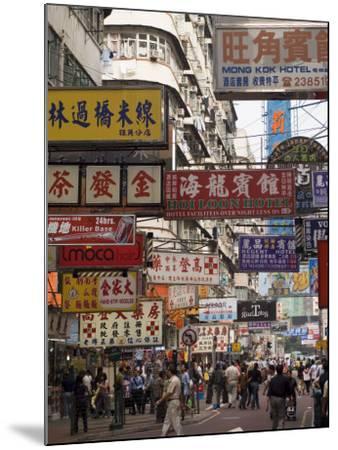 Fa Yuen Street, Mong Kok District, Kowloon, Hong Kong, China, Asia-Sergio Pitamitz-Mounted Photographic Print