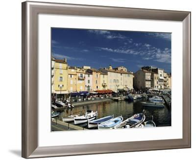 Boats and Waterfront, St. Tropez, Var, Cote d'Azur, Provence, French Riviera, France-Sergio Pitamitz-Framed Photographic Print