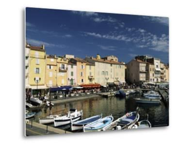 Boats and Waterfront, St. Tropez, Var, Cote d'Azur, Provence, French Riviera, France-Sergio Pitamitz-Metal Print
