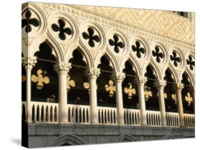 Architectural Detail of the Palazzo Ducale (Doge's Palace), Venice, Veneto, Italy, Europe-Sergio Pitamitz-Stretched Canvas Print