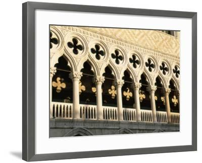 Architectural Detail of the Palazzo Ducale (Doge's Palace), Venice, Veneto, Italy, Europe-Sergio Pitamitz-Framed Photographic Print
