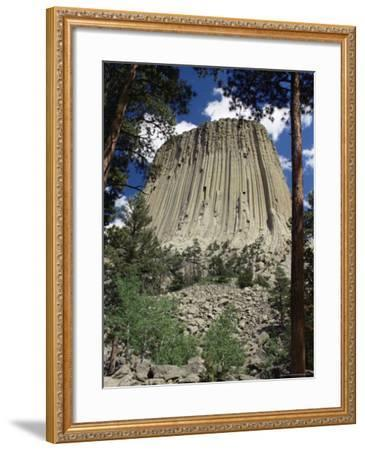 Devil's Tower, Devil's Tower National Monument, Wyoming, United States of America, North America-James Emmerson-Framed Photographic Print