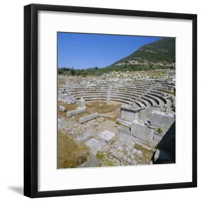Amphitheatre at Sanctuary of Zeus, Mavromati Ithomi, Peloponese, Greece, Europe-Tony Gervis-Framed Photographic Print