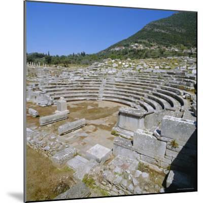 Amphitheatre at Sanctuary of Zeus, Mavromati Ithomi, Peloponese, Greece, Europe-Tony Gervis-Mounted Photographic Print