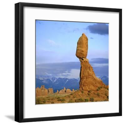 Balanced Rock, Arches National Park, Utah, USA-Tony Gervis-Framed Photographic Print