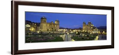Christian Cathedral and Square at Dusk, Cuzco (Cusco), Unesco World Heritage Site, Peru-Gavin Hellier-Framed Photographic Print