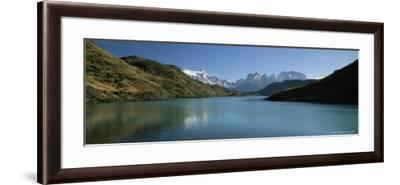 Cuernos Del Paine Rising up Above Rio Paine, Torres Del Paine National Park, Patagonia, Chile-Gavin Hellier-Framed Photographic Print