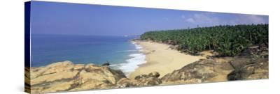 Coconut Palms and Beach, Kovalam, Kerala State, India, Asia-Gavin Hellier-Stretched Canvas Print