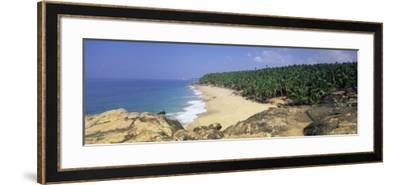 Coconut Palms and Beach, Kovalam, Kerala State, India, Asia-Gavin Hellier-Framed Photographic Print