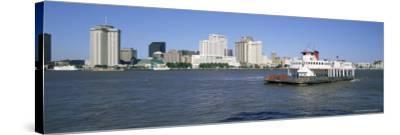 City Skyline and the Mississippi River, New Orleans, Louisiana, United States of America-Gavin Hellier-Stretched Canvas Print