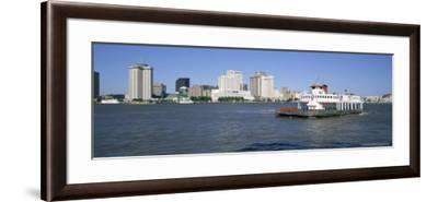 City Skyline and the Mississippi River, New Orleans, Louisiana, United States of America-Gavin Hellier-Framed Photographic Print