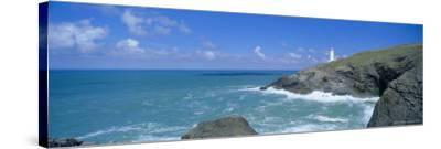 Trevose Lighthouse and Trevose Head, North Cornwall, England, UK-Lee Frost-Stretched Canvas Print