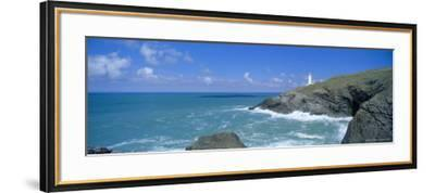 Trevose Lighthouse and Trevose Head, North Cornwall, England, UK-Lee Frost-Framed Photographic Print