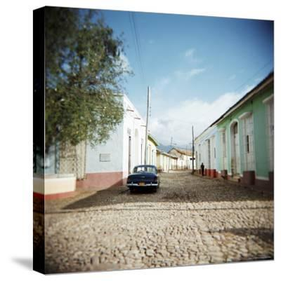 Street Scene with Colourful Houses, Trinidad, Cuba, West Indies, Central America-Lee Frost-Stretched Canvas Print